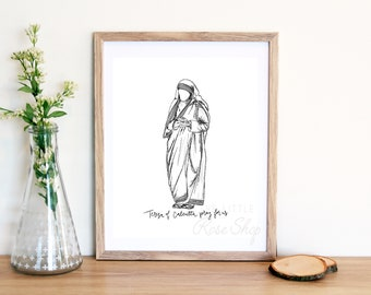 Teresa of Calcutta Physical Print 8x10
