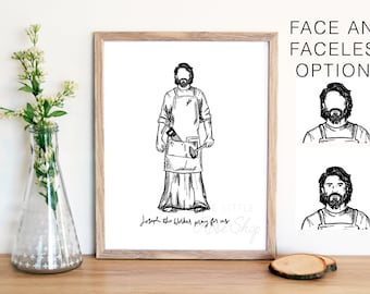 Joseph the Worker Physical Print