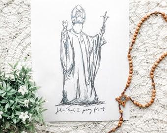 "Pope John Paul II 8""x10"" Printable"