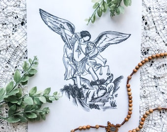 "St Michael the Archangel 8""x10"" Printable"