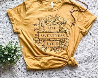 Our Life Our Sweetness And Our Hope Marian Design T-Shirt