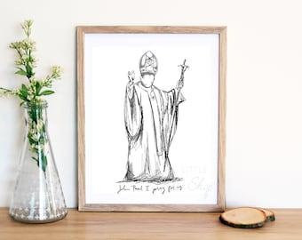 Pope John Paul II Physical Print