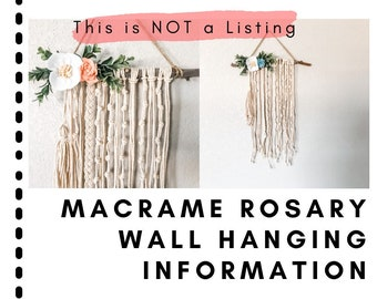 Information: Macrame Rosary Wall Hanging