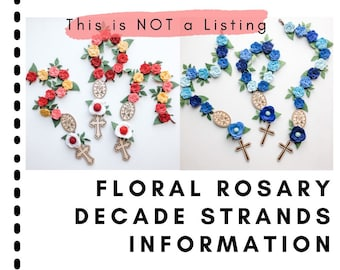 Information: Floral Rosary Decade Strand Wall Hanging