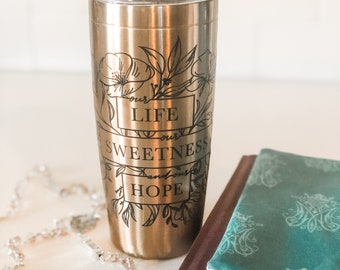 Our Life Our Sweetness and Our Hope Tumbler