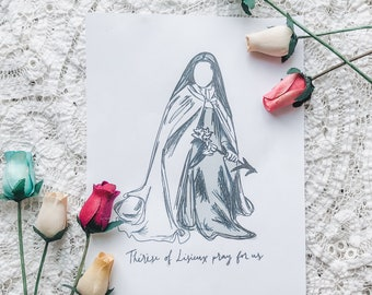 """St Therese of Lisieux 8""""x10"""" Printable"""