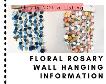 Information: Floral Rosary Wall Hanging