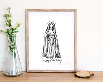 Our Lady of the Rosary Physical Print