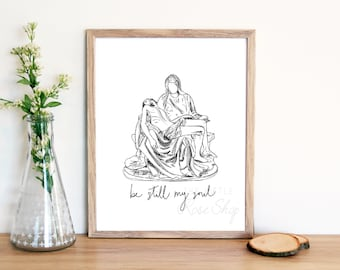 Pieta Physical Print 8x10