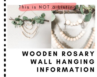 Information: Wooden Bead Rosary Wall Hanging