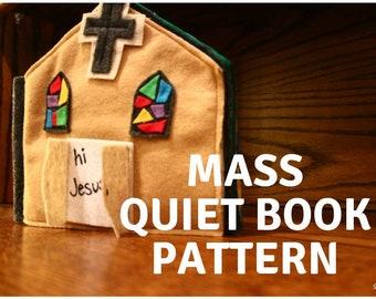 Mass Quiet Book Pattern, Catholic Mass Book, Mass Book, Catholic Baby