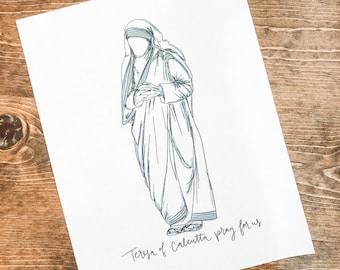 Teresa of Calcutta Digital Download, Printable