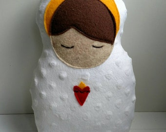 Jesus Snuggle baby doll, Jesus baby doll, fabric baby doll, plush baby doll toy, infant Jesus
