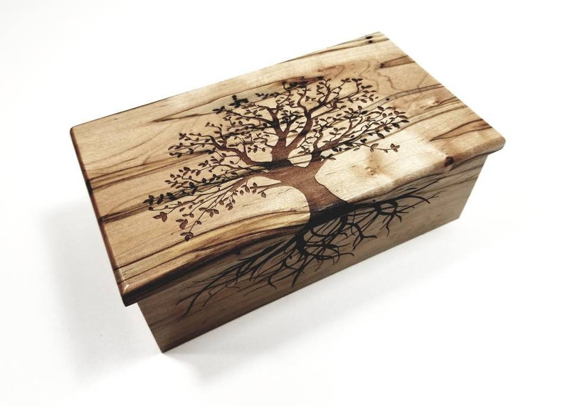 Personalized Electronic Tree Of Life Music Box Any Song Tree Omusic Jewelry Box Laser Engraved Digital Music Box Custom Music Memory Box