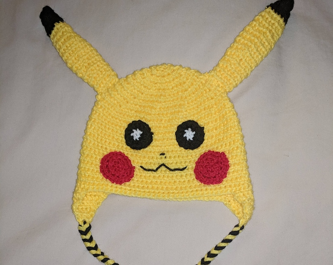 Pikachu Crocheted Hat