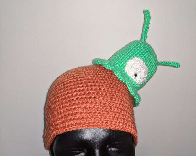 Brain Slug Crocheted Hat