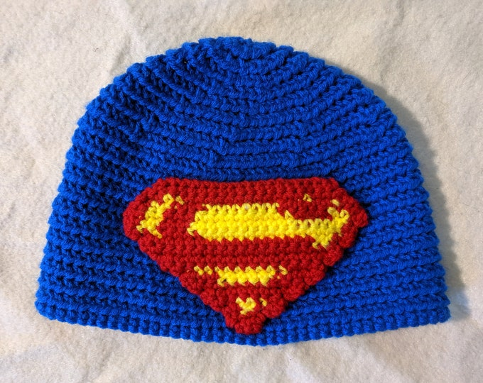 Superman Crocheted Hat