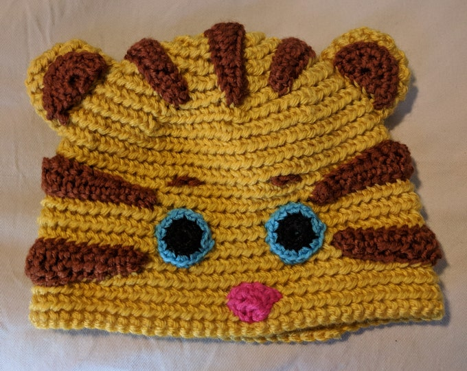 Daniel Tiger Crocheted Hat