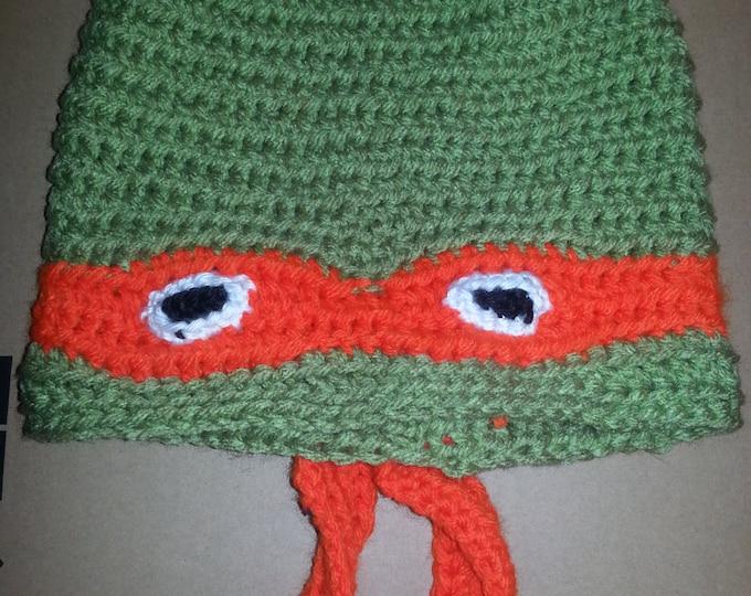 Teenage Mutant Ninja Turtle Crocheted Hat