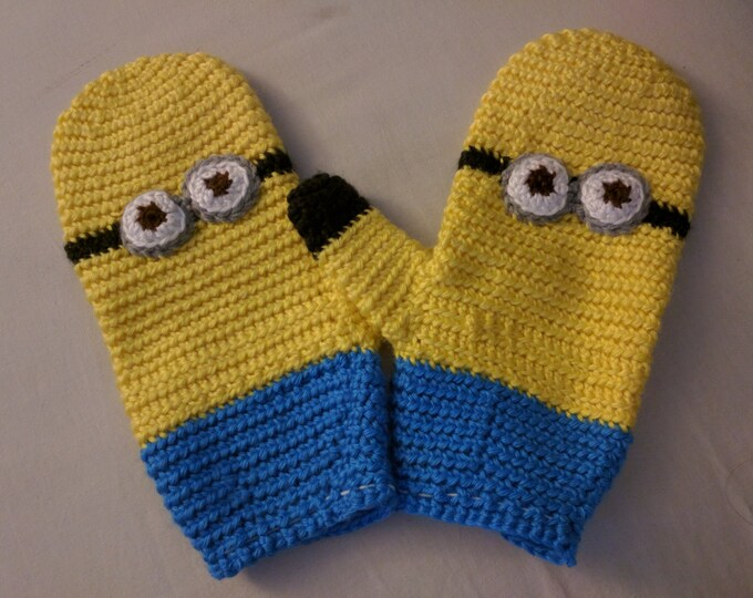 Minion Crocheted Mittens