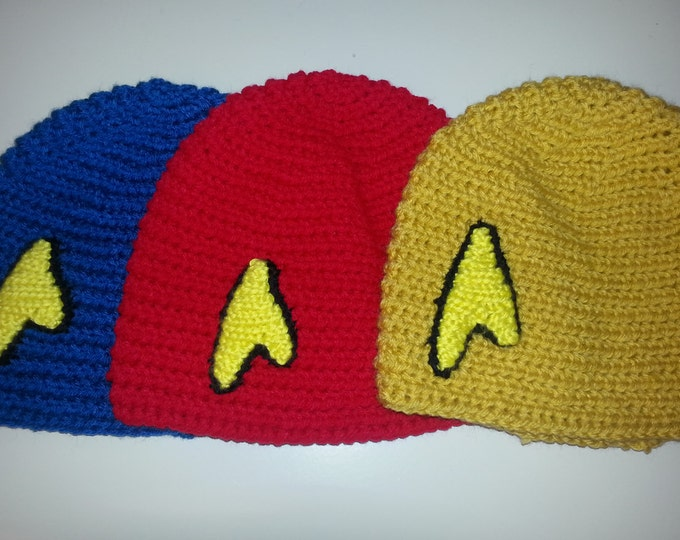 Star Trek Crocheted Hat