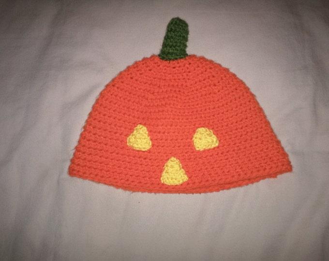 Pumpkin Crocheted Hat