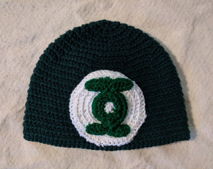 Green Lantern Crocheted Hat