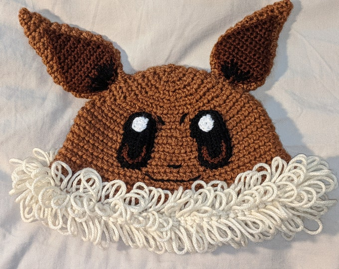 Eevee Crocheted Hat