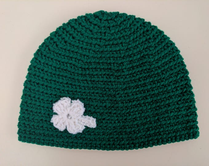 4-Leaf Clover Crocheted Hat
