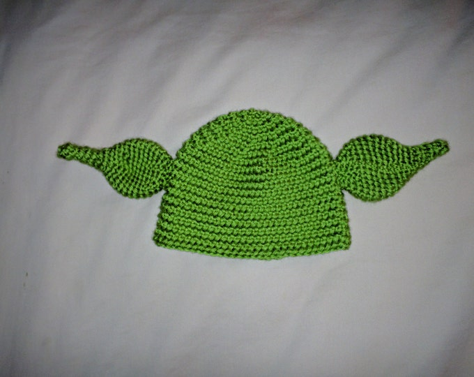 Yoda Crocheted Hat