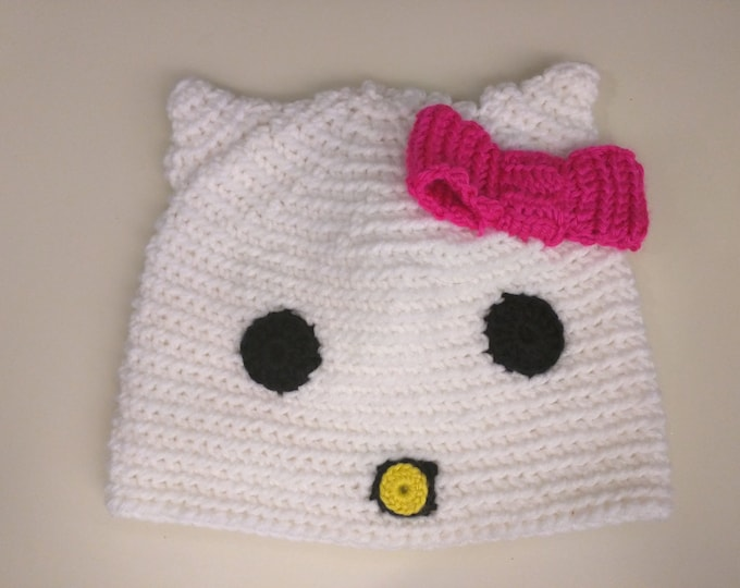 Hello Kitty Crocheted Hat