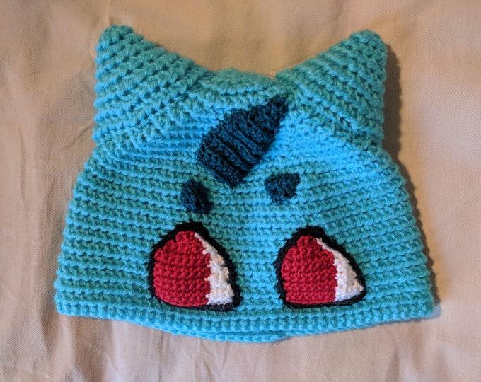 Bulbasaur Crocheted Hat