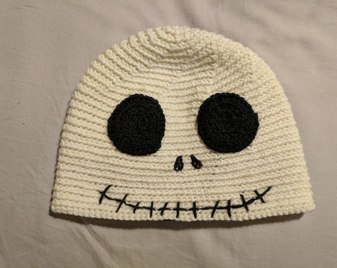 Jack Skellington Crocheted Hat