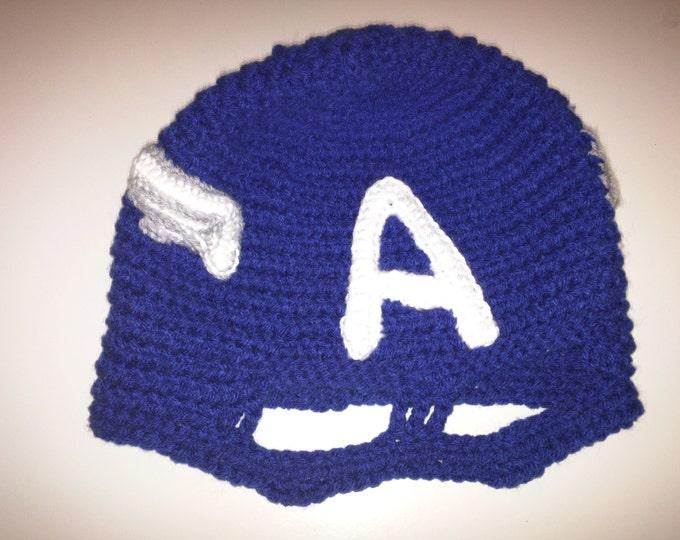 Captain America Crocheted Mask