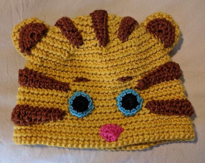 Daniel Tiger Crocheted Hat