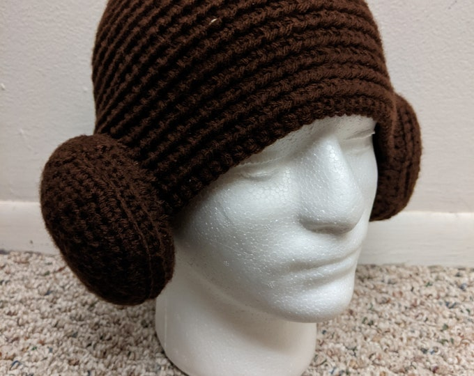 Princess Leia Crocheted Hat