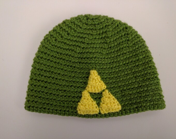 Classic or Breath of the Wild Triforce Crocheted Hat