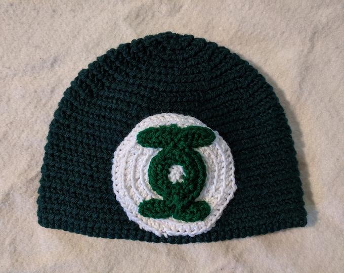Green Lantern Crocheted Hat
