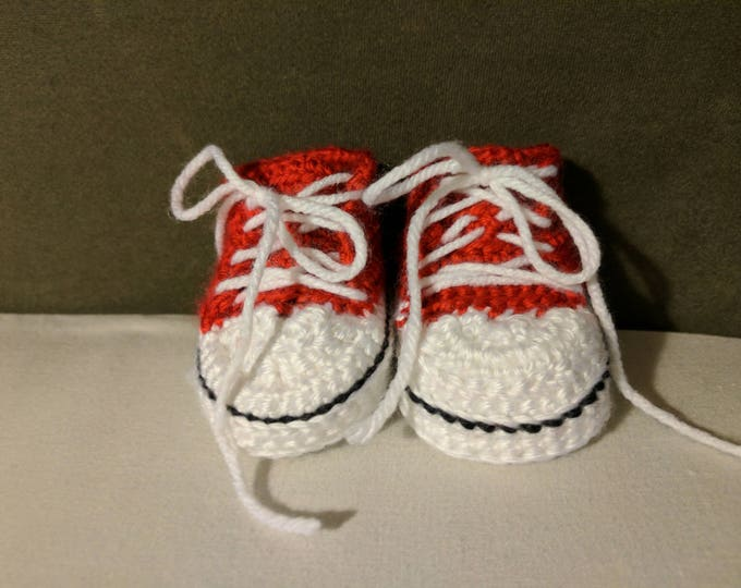 Converse Crocheted Booties