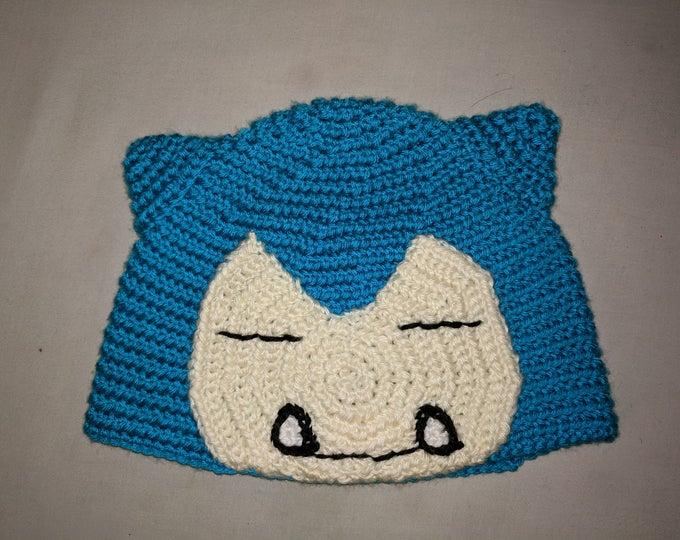Snorlax Crocheted Hat