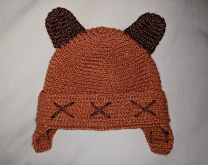 Ewok Crocheted Hat