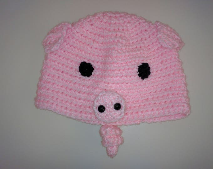 Pig Crocheted Hat