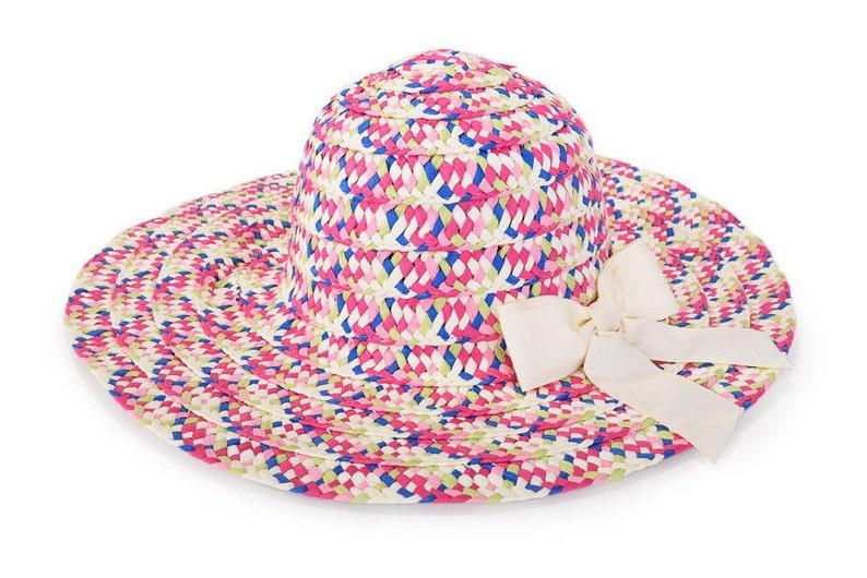 5dcfd5646f1 Colorful floppy hat Sun hat Hats for women Wide brim hat
