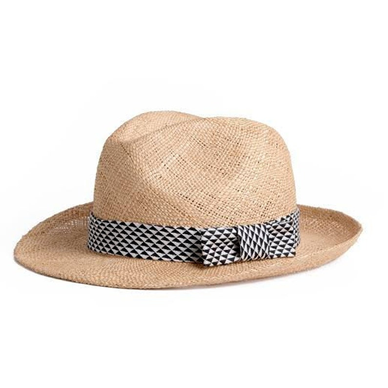 87d62f8cf Straw summer hat Unisex Panama hat decorated with a
