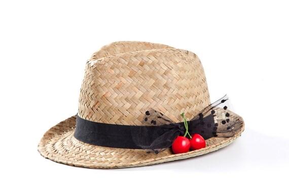 Fedora hat Custom hat Straw hat Sun hat Hats for women  1ee1ac15e26b