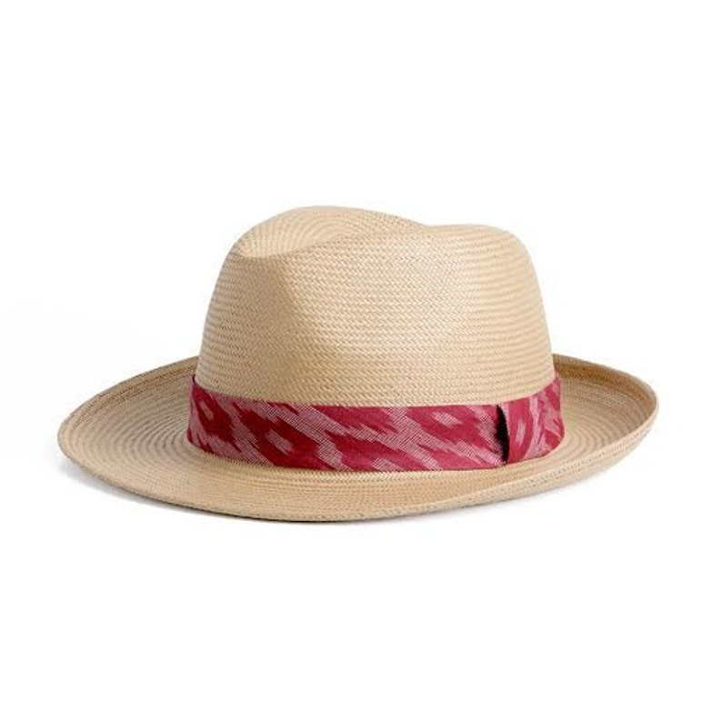 77800cac8 Straw hat Unisex Panama hat decorated with a stunning