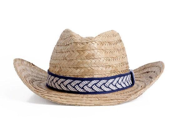 e276e1bbce3 Straw Cowboy Hat Southwest style straw hat Unisex bohemian