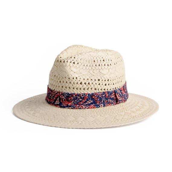 Wide Brim Fedora Raffia Hat Chic Sun hats Unisex straw hat  3e76706a2fc3
