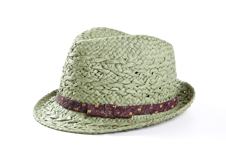 14526db927 Light green fedora hat Sun hats for women decorated with a