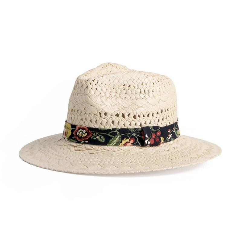 463533d0ac9 Fedora Raffia Hat Wide brim fedora Chic summer hat